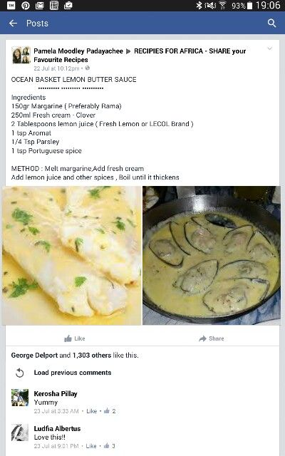 Ocean basket lemon butter sauce