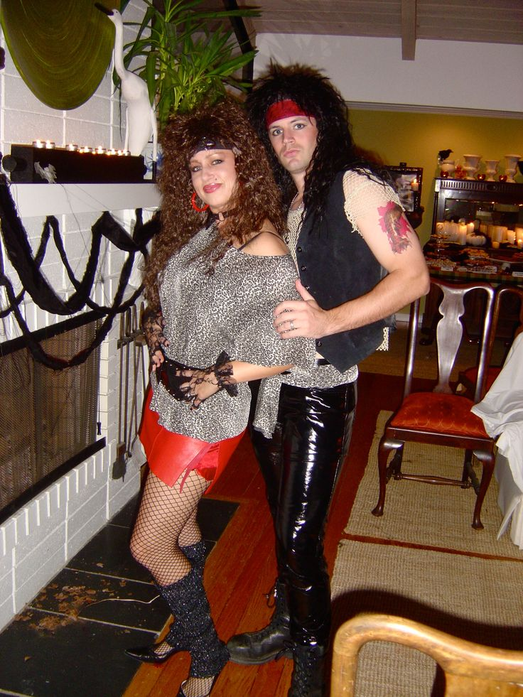 80s hair band couple what a fun costume for halloween - Band Halloween Costumes