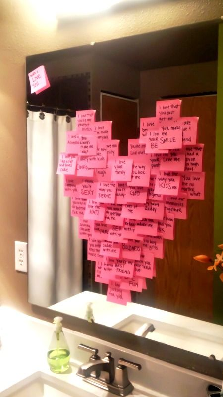 Post-it notes for Valentines Day ~ All the things I love about YOU! Sweet Idea!