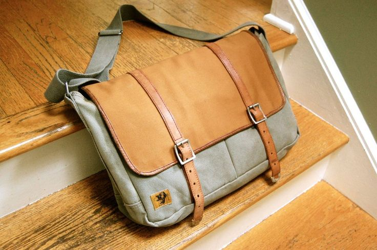 Amazing looking DIY messenger bag. Courtesy of http://www.reddit.com/r/malefashionadvice/comments/1km0d0/diy_messenger_bag_upgrade/