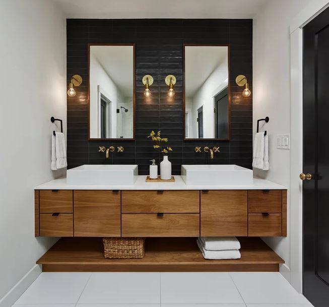 Ordnung Im Bad Mit Den Richtigen Mobeln In 2020 Modernes Badezimmer Badezimmerideen Modernes Badezimmerdesign