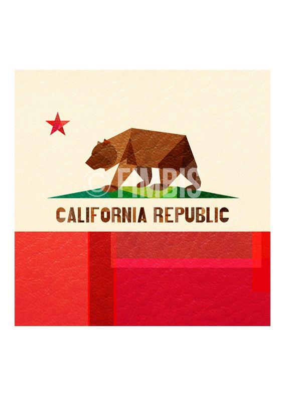 California Flag digital art - wall art - Cali - Socal - Norcal - The Golden State - California Republic flag - Collage  #fimbis #etsy #California #Californiaflag #wallart #style #styleblog #fashion #fashionblogger #fashionblog #styleblogger #Cali #designer #Socal #typography #Norcal #Californiarepublic #disney #flags #interiors #fblogger #interiordesign #homedecor #homestyle #artprint #colourful #colorful