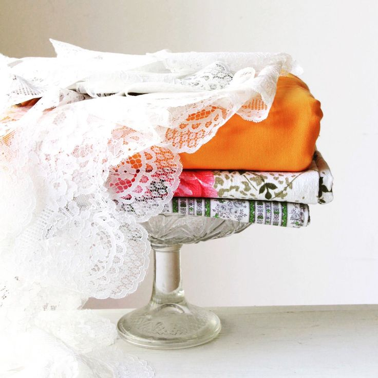 Latest fabrics and lace trims just listed in the shop ♡