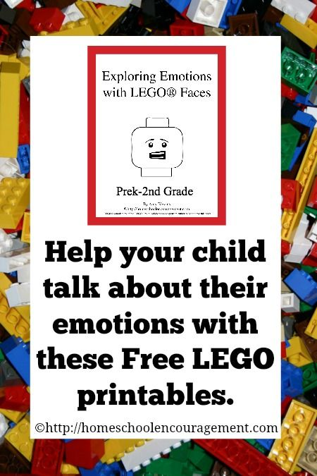 Exploring Emotions with LEGO faces - free LEGO printables Homeschool Encouragement