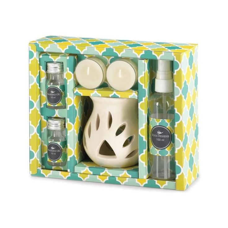 Jasmine Scent Set Oil Burner Essential Soothing Relaxing Aroma Ceramic Warmer #FragranceFoundry