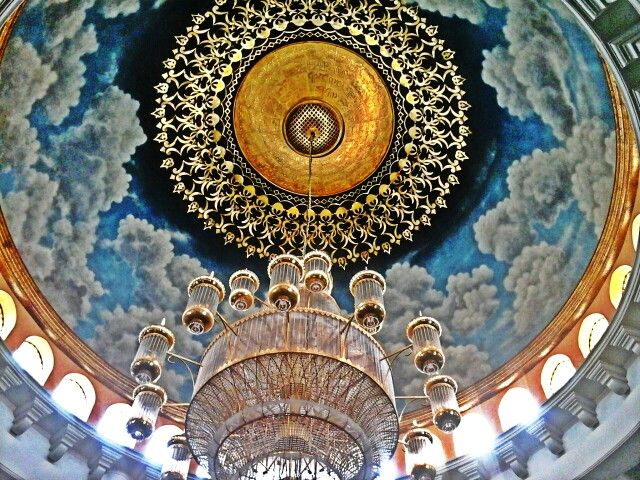 A part of decoration in Kubah Emas mosque, Depok-Indonesia.
