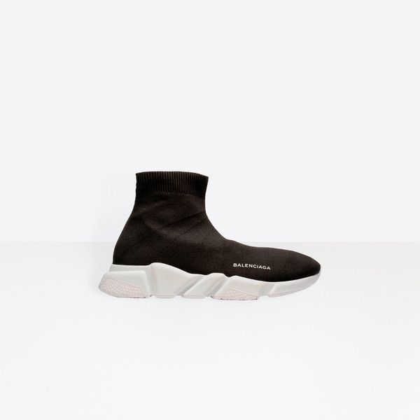 Balenciaga Speed Trainer (29,375 PHP) ❤ liked on Polyvore featuring men's fashion, men's shoes, men's sneakers, black, man shoes speed sneakers, mens black sneakers, mens black shoes, balenciaga mens shoes and balenciaga mens sneakers