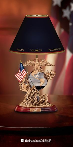 Honor the men and women who fought and continue to fight for our country with this USMC Esprit de Corps Lamp! This distinctive table lamp pays tribute to the world's mightiest fighting force - the United States Marine Corps! Let this USMC table lamp serve as a wonderful addition to your decor: