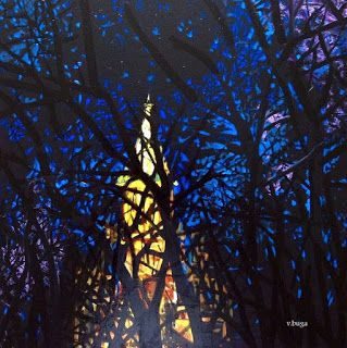 Art by Viorica Buga: The Cathedral, oil on canvas,60x60 cm,