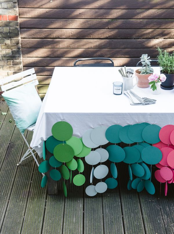 DIY: confetti dot tablecloth