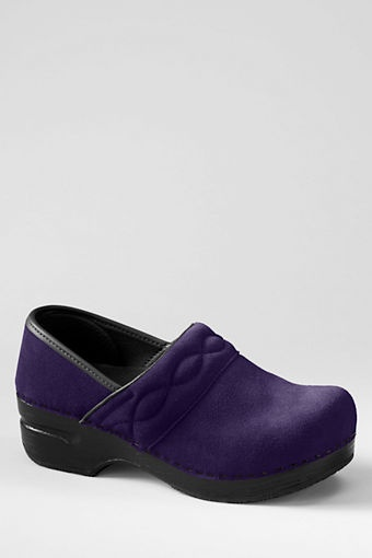 Women s Suede Clog Shoes from Lands End