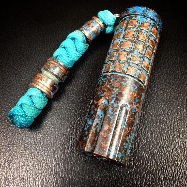 Forced patina on my Cu Maratac 123 http://ift.tt/1zuxEhu via /r/edc