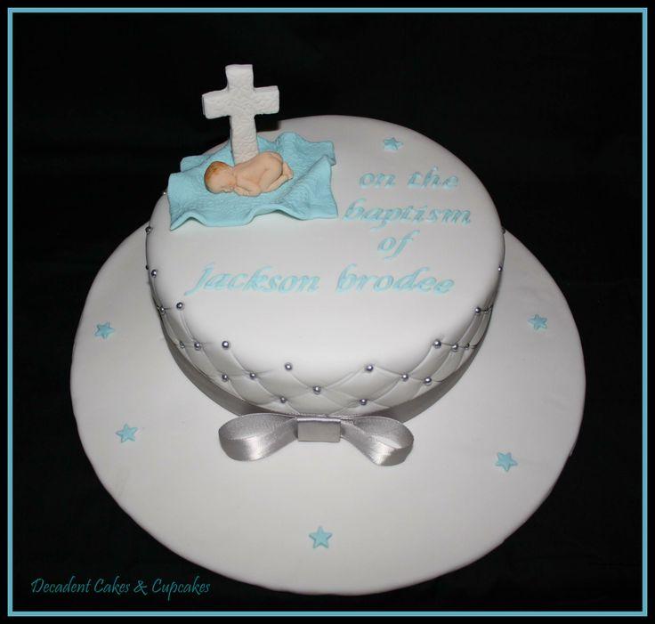 <3 Baptism Cake - Chocolate Mudcake <3 Made By Decadent Cakes & Cupcakes