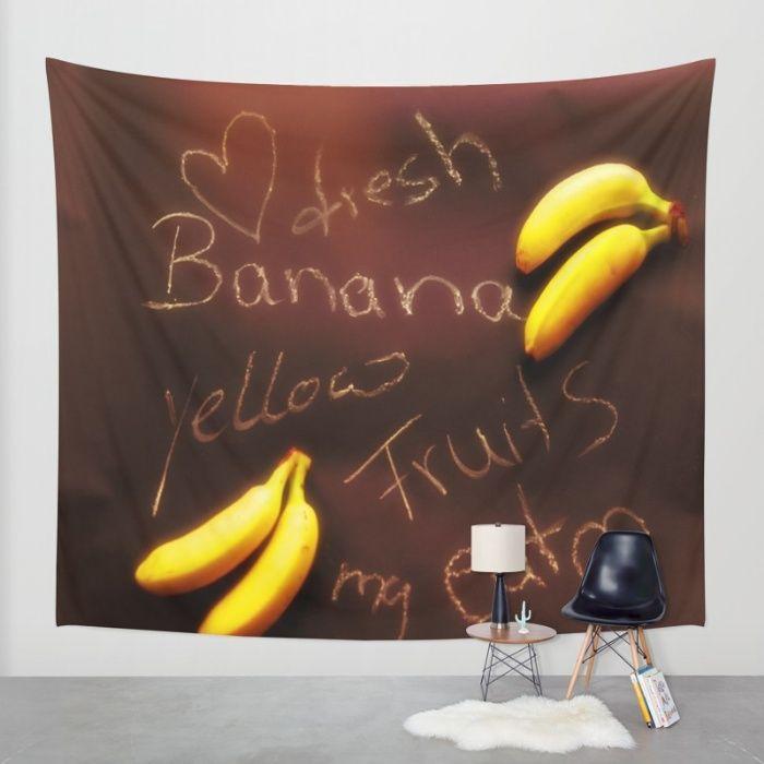 Banana Wall Tapestry by Tanja Riedel | Society6