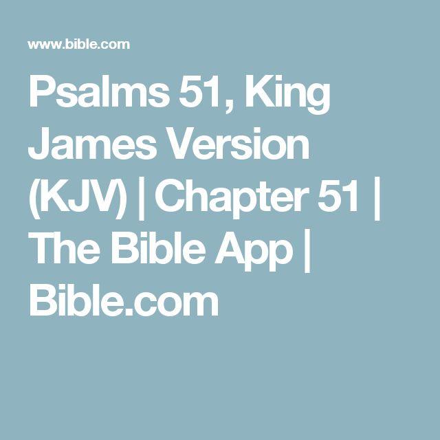 Psalms 51, King James Version (KJV)   Chapter 51   The Bible App   Bible.com