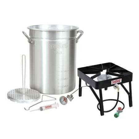 #Bayou #Classic #Outdoor #Turkey #Fryer #Kit - #30 #qt. Single-burner patio stove and 30-qt. #turkey #fryer pot Includes pot, poultry rack, grab hook, thermometer / Stove dimensions: 16W x 16L x 13H inches 18-gauge restaurant-grade aluminum 30-qt. cookpot / Vented lid and heavy-duty handles https://food.boutiquecloset.com/product/bayou-classic-outdoor-turkey-fryer-kit-30-qt/