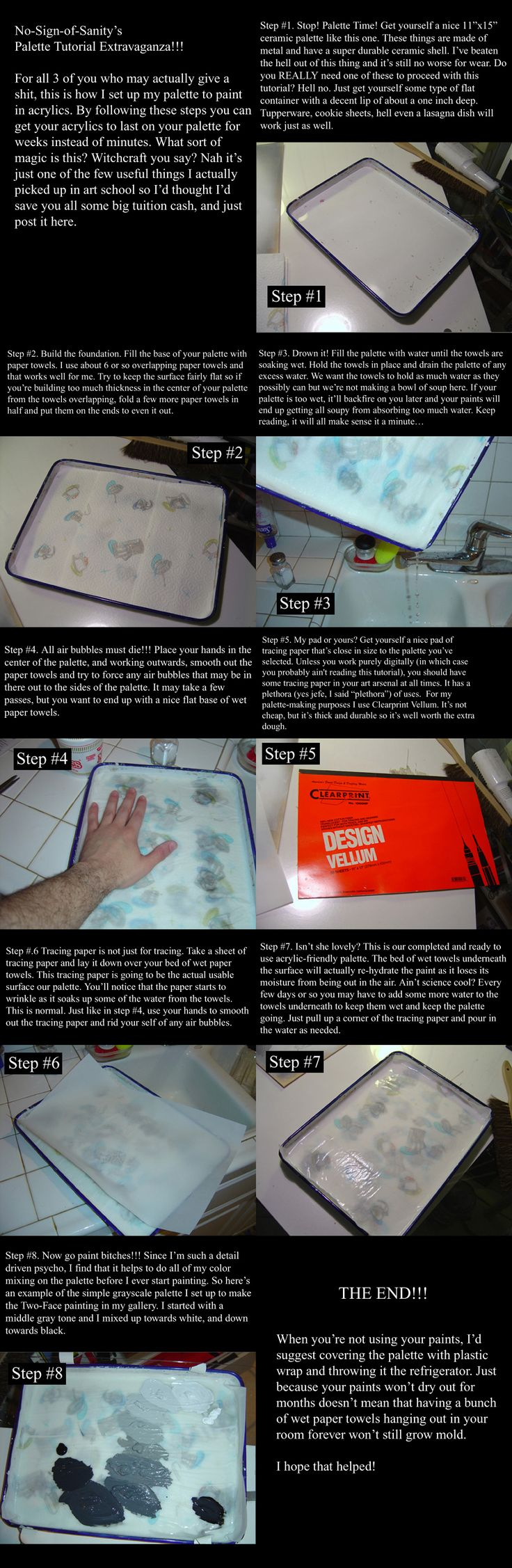Acrylic Palette Tutorial by ~No-Sign-of-Sanity on deviantART