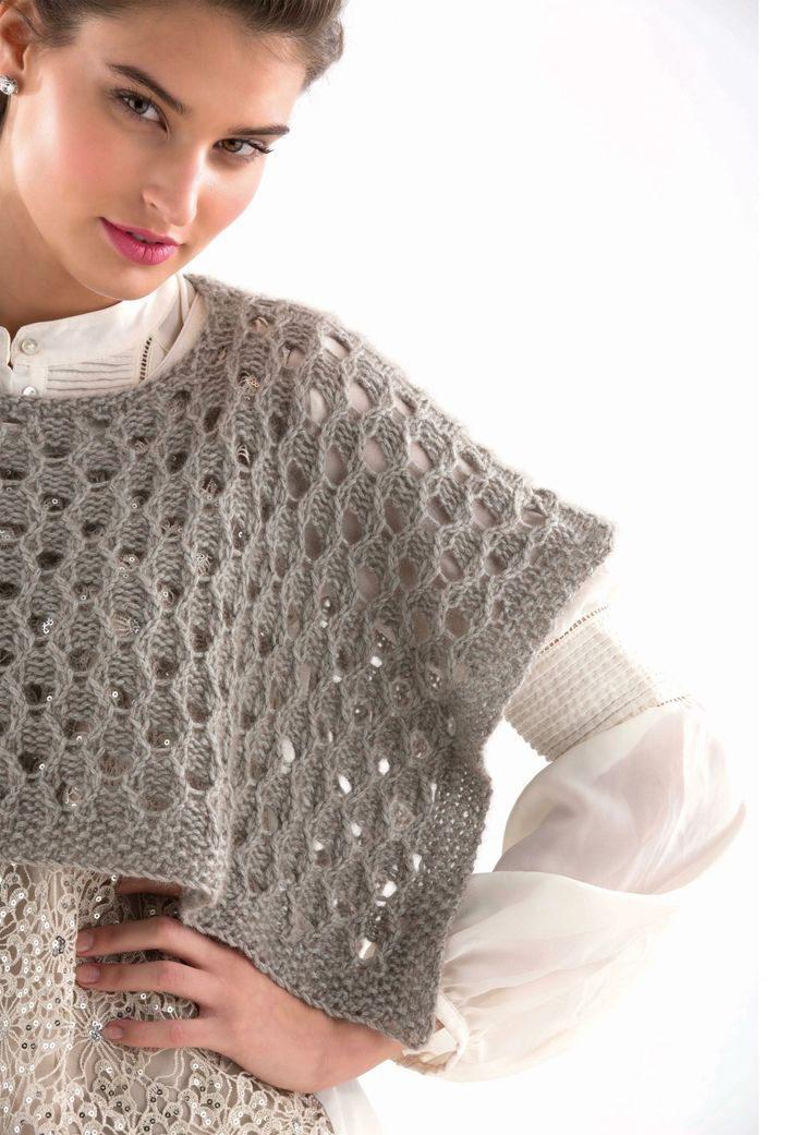 EYELET PONCHETTE - Designed by Vanessa Putt, as featured in the Zealana AIR Chunky Pattern Book.