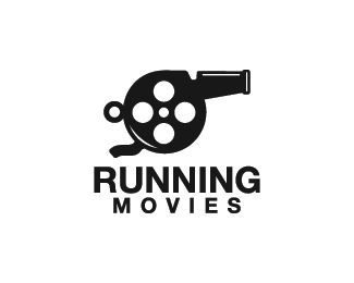 Running Movies Logo design - Logo design of a whistle with a movie reel inside it. <br /><br /> Price $250.00