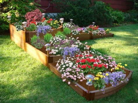 Frame It All Two Inch Series 144in. x 144in. x 22in. Composite Split Waterfall Raised Garden Bed Kit