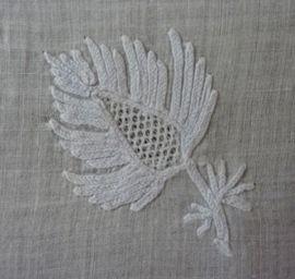 Tambour Apron  1790's