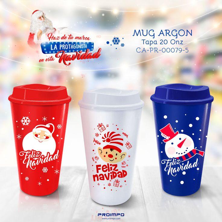 MUG Argon promocional navidad