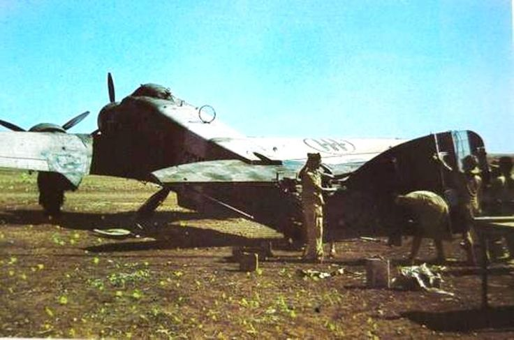 SM-79 of 279th Squadriglia at Gadouras Airport, or Aeroporto di Gadurrà, during the war indicated by the Italian Commands as Aeroporto Militare 806 (Military Airport 806), was also known in English as Kalathos Airfield.