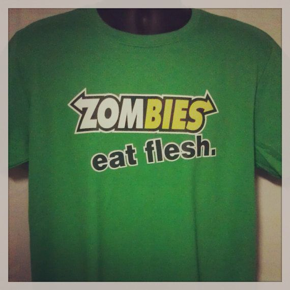 Men's Zombies Subway Eat Flesh Funny and Humorous by TeesXsseries