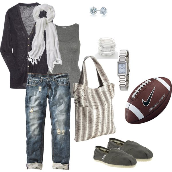 Saturday ~ football game casual, created by mandy75