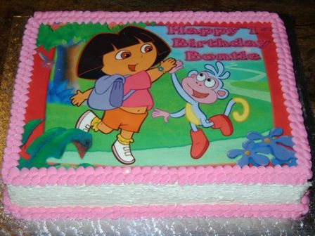 Dora and Boot edible picture cake