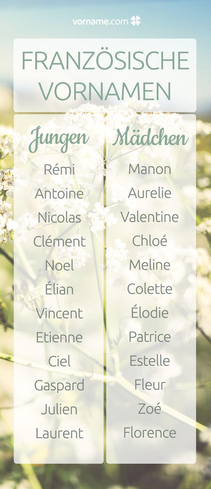 Wundervolle französische Vornamen für Mädchen und Jungen – #französische #f…