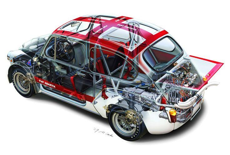 Fiat Abarth 1000 TC cutaway