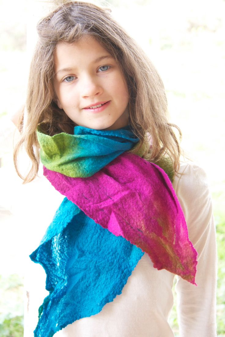 A personal favorite from my Etsy shop https://www.etsy.com/listing/236096241/bright-and-fun-merino-wool-cobweb-scarf