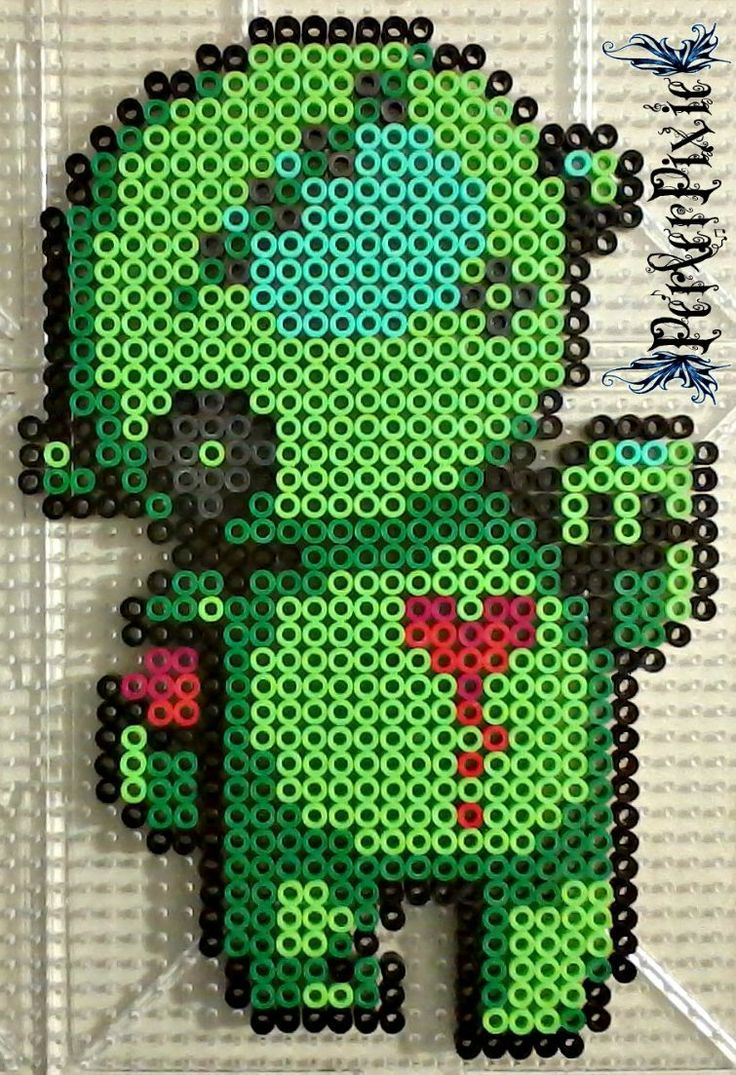 Bleeding Heart Zombie by PerlerPixie.deviantart.com on @DeviantArt