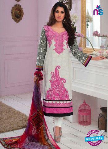 Rivaa14703A - Black & White Color Cotton Designer Suit
