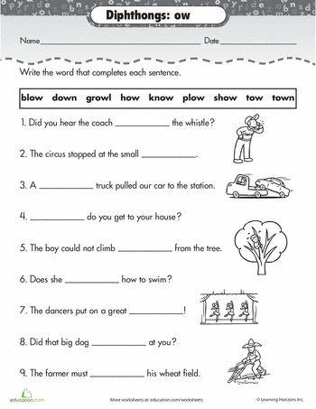 Worksheets Diphthong Worksheets 1000 images about school phonics diphthongs on pinterest worksheets practice reading vowel ow