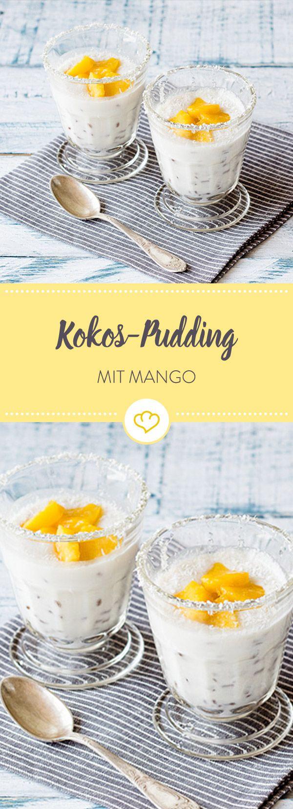 Unser Rezept für cremigen Kokos-Pudding mit saftiger Mango macht Lust auf Sommer. Dieses und weitere Dessert-Variationen findest du im Springlane Magazin.