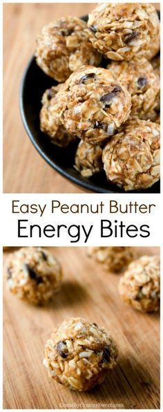 Super Easy Peanut Butter Energy Bites that come together in just minutes