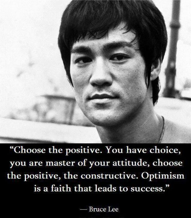 """""""Choose the positive. You have choice, you are master of ..."""