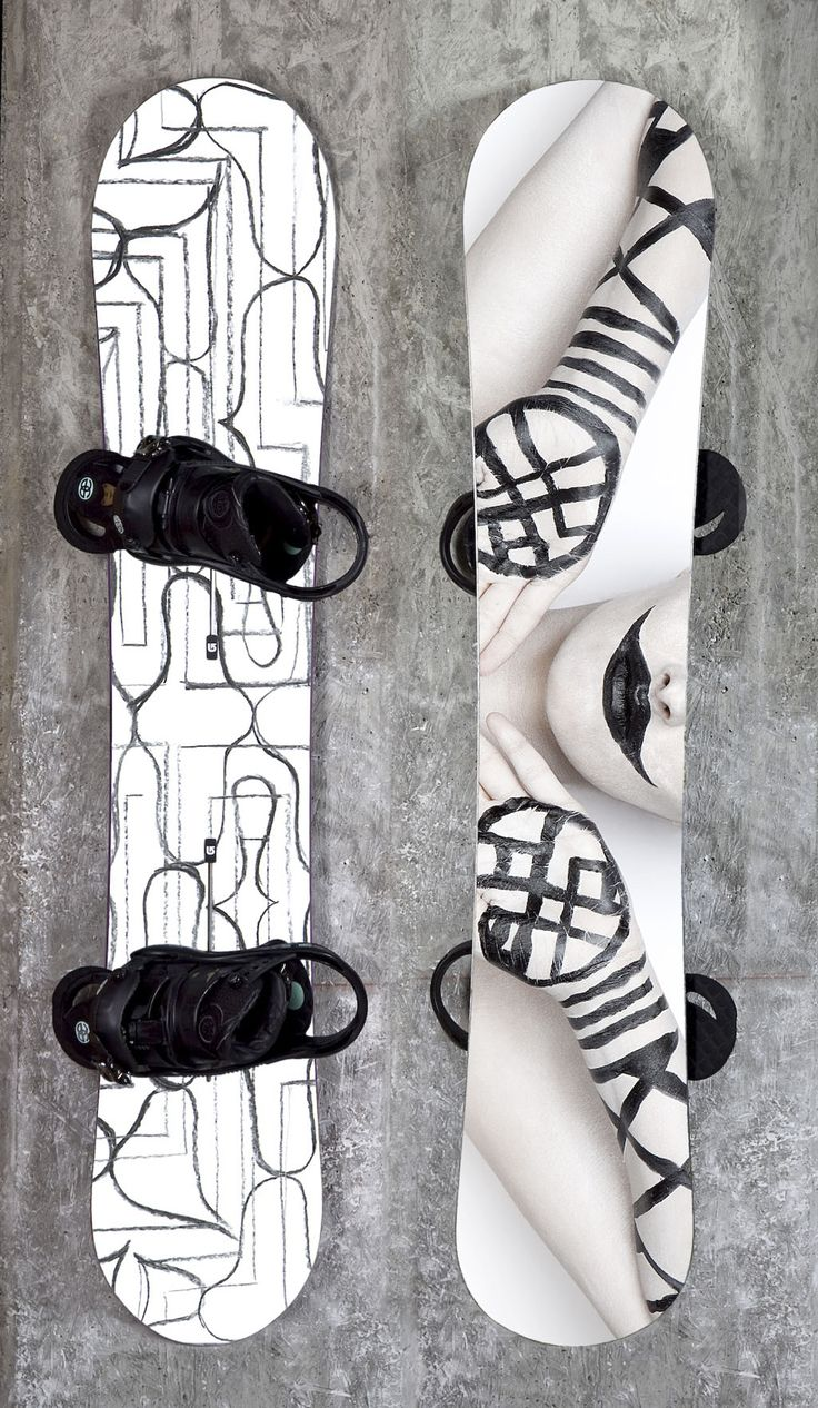 Ainu on powder, snowboard design by SWARTE