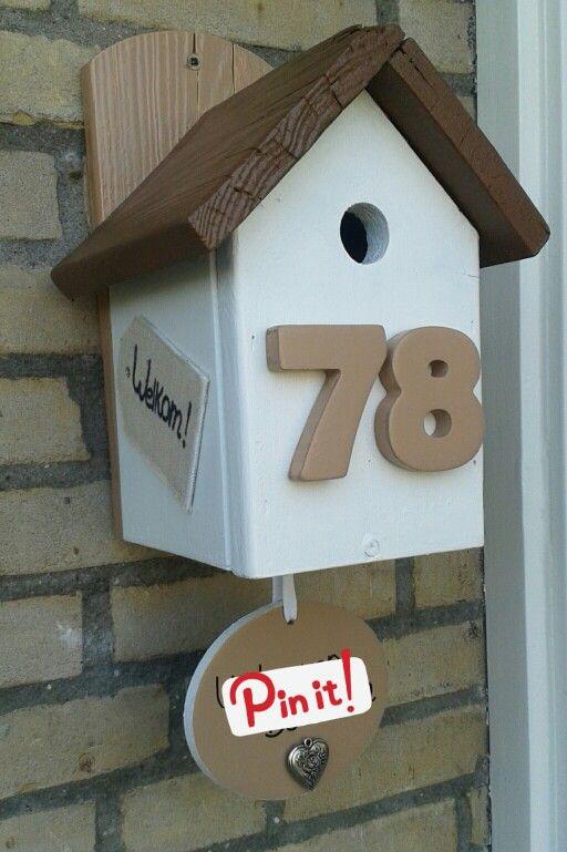 DIY a la Kell - naambord Vogelhuis (nametag birdhouse)