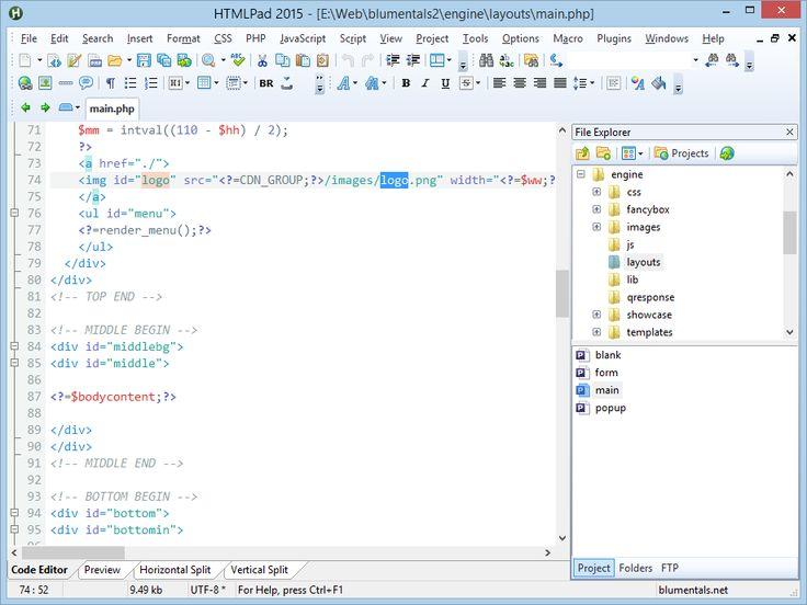 HTML, CSS, JavaScript editor screenshot