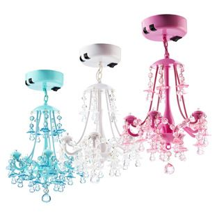 Locker Chandelier - So cute to put in a little girls closet or as a reading light over the bed....