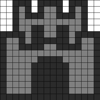 Mario Mini Castle Perler Bead Pattern | Bead Sprites | Misc Fuse Bead Patterns