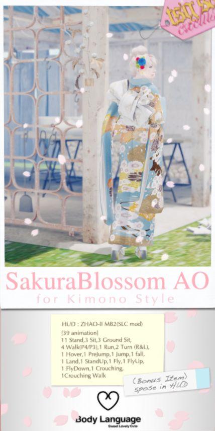 SLC SakuraBlossom AO SET $850 Visit SLC @ .tsg. Mall http://maps.secondlife.com/secondlife/The%20Emporium/184/175/490