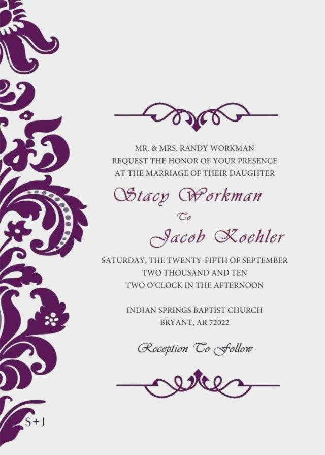 37 Awesome Photo Of Wedding Invites Design Your Own Free