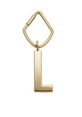 Fossil Gold Initial Letter Bag Charms