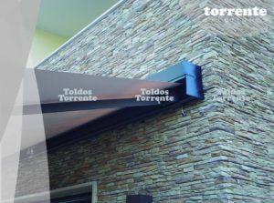 Toldos cofres diseño rectangulares Torrente exteriores barcelona