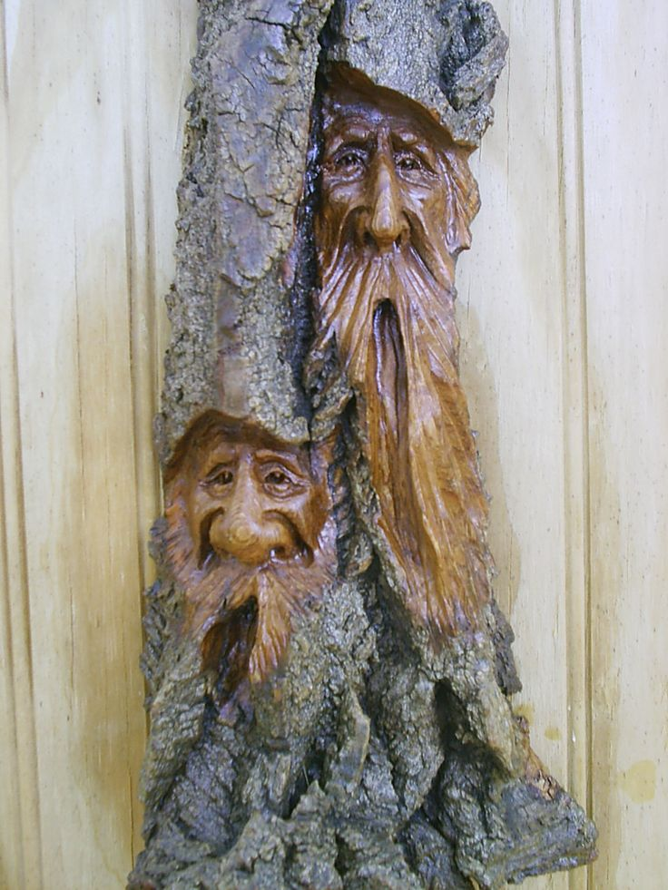 Best wood spirits images on pinterest tree carving
