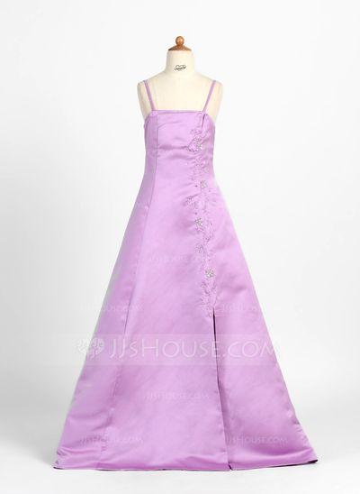 Junior Bridesmaid Dresses - $106.99 - A-Line/Princess Floor-Length Satin Junior Bridesmaid Dress With Beading (009000701) http://jjshouse.com/A-Line-Princess-Floor-Length-Satin-Junior-Bridesmaid-Dress-With-Beading-009000701-g701?pos=ultimately_buy_3